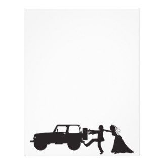 Jeep Wedding customized letterhead