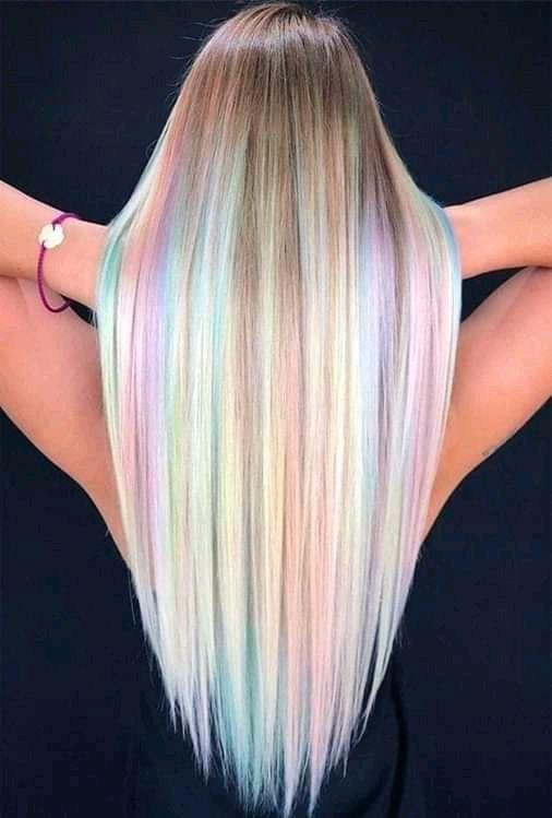 ¡Lo último de la moda! Tiñe tu cabello como un arcoíris Pretty Hair Color, Beautiful Hair Color, Hair Color Purple, Hair Dye Colors, Green Hair, Blonde Hair With Purple Highlights, Black Hair, Pastel Colors, Unicorn Hair Color