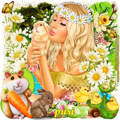 """MI RINCÓN GÓTICO: CT for Daniela E Designs, """""""""""" Easter bunny """""""""""""""