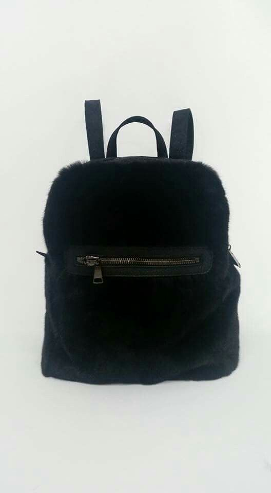 Blackglama mink fur backpack