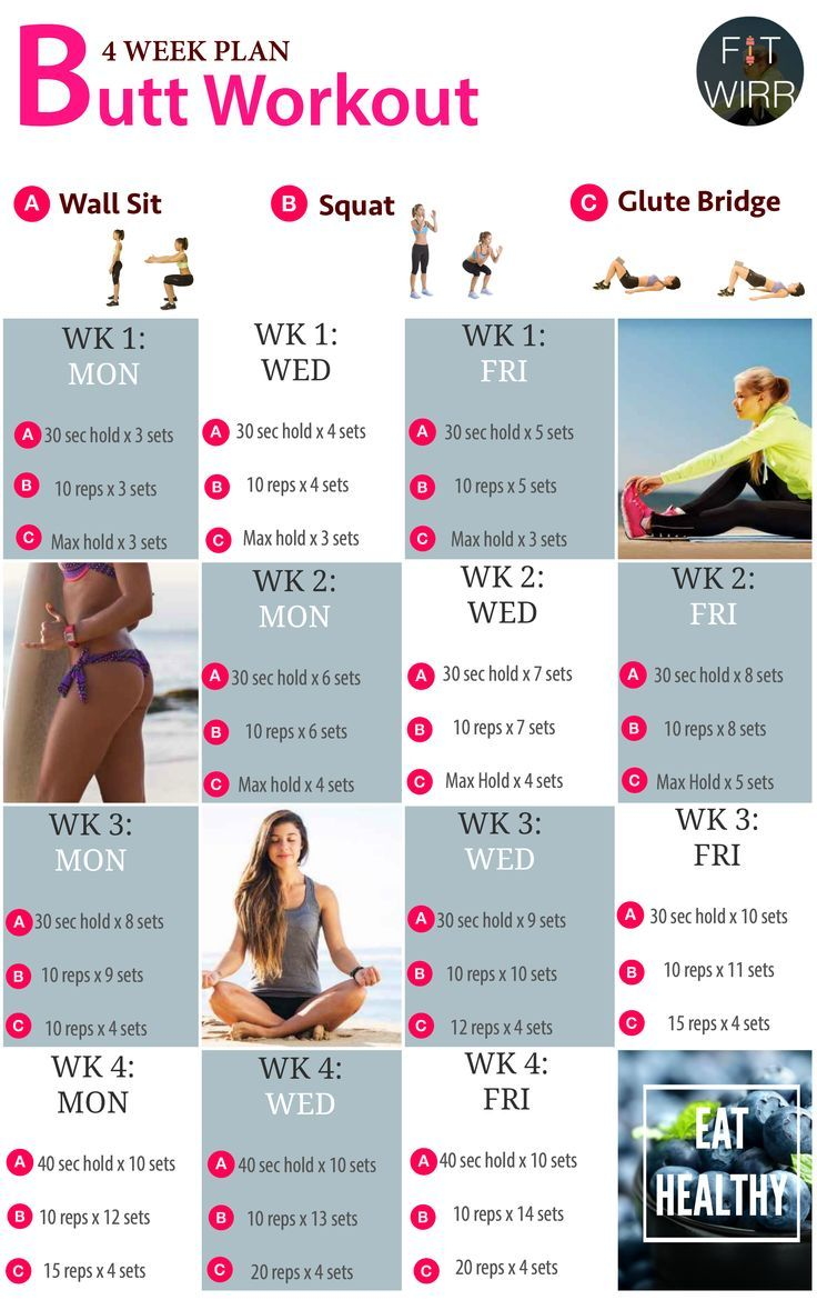 4 Week Butt Lift Bodyweight Workout Challenge. Beginner's Bodyweight Butt Lift Workout Routines to Your Brazilian Bodacious Booty - www.fitwirr.com: