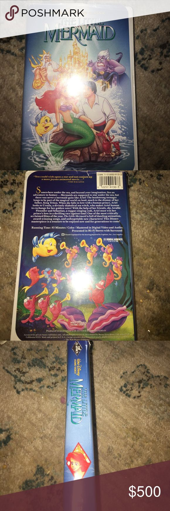 Vhs the little mermaid banned cover black dmnd cls Rare banned cover black diamond classic only out for 1 year before they pulled the cover art..is selling for more than $6000 on ebay Disney Other