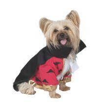 "Vampire Deluxe Costume - Small Dogs (10 - 14"") - $6.39 HalloweenCostumesForDogs.com"