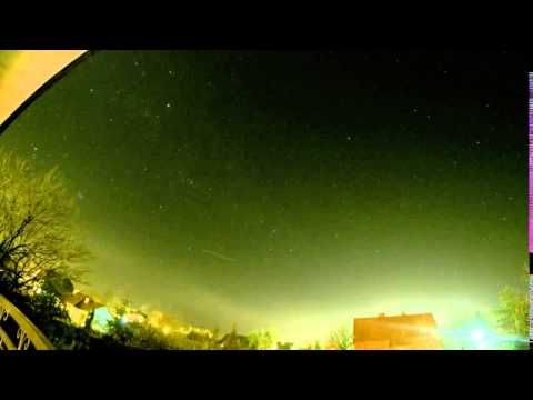 Stars and meteorites on the Polish sky. Full-Color Version Timelapse Movie. - YouTube