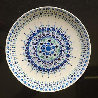 Точечная роспись тарелки. Декупаж