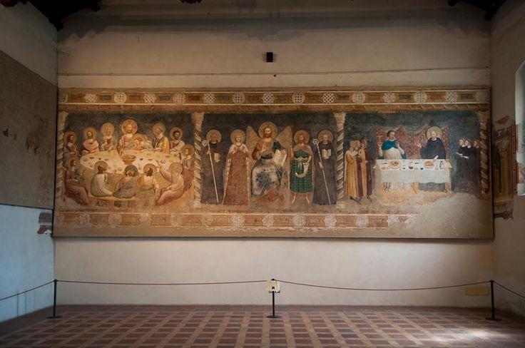 Пьетро да Римини. Росписи трапезной аббатства Помпоза (Феррара), 1316-1320 гг.