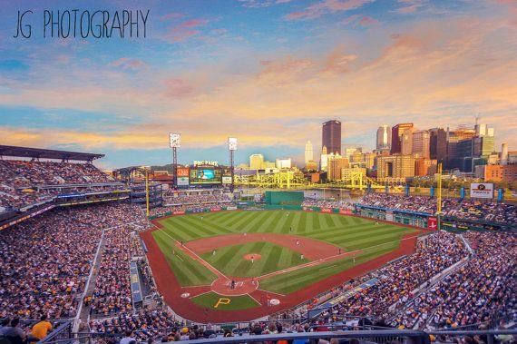 PNC Park at Sunset Pittsburgh Pirates baseball stadium