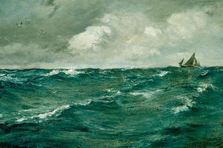 Charles Napier Hemy - Seascape (A Westerly Wind)