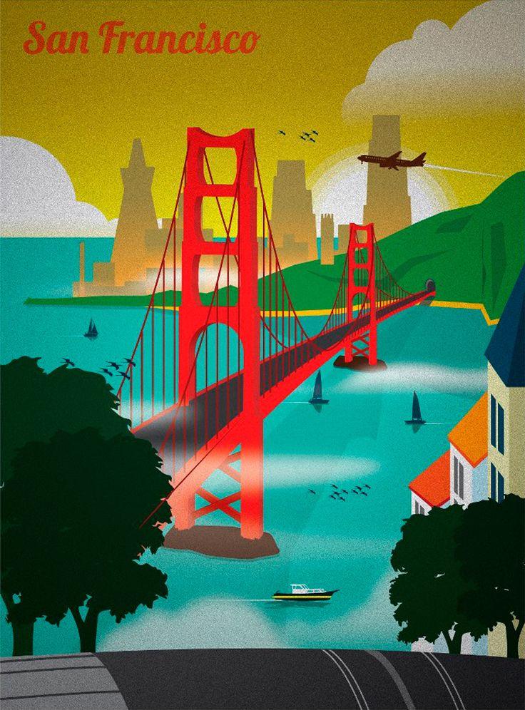 New San Francisco Golden Gate Bridge Art