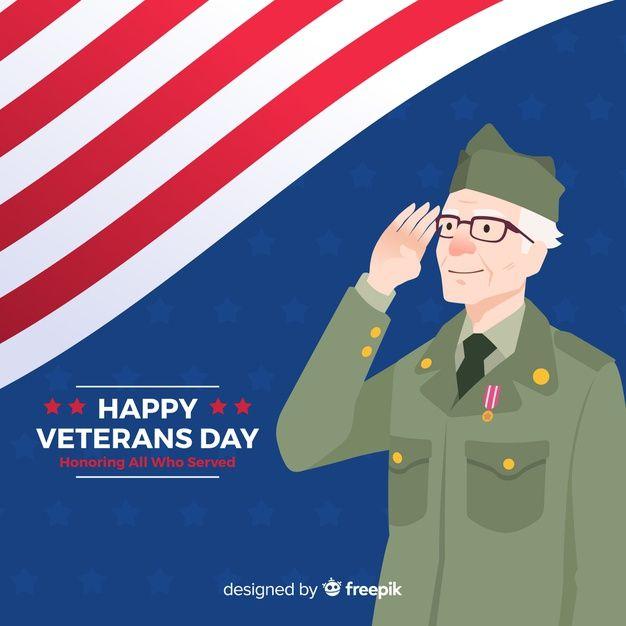 Descubre Miles De Vectores Gratis Y Libres De Derechos En Freepik Veterans Day Celebration Illustration Veteran