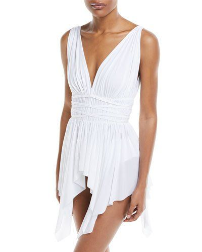 dab532ea1179f Norma Kamali Goddess One-Piece Swimdress in 2019 | Products | Swim ...