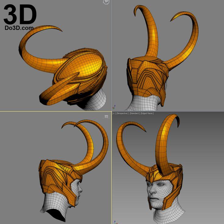 Classic Loki Helmet printable 3D STL file by do3d.com