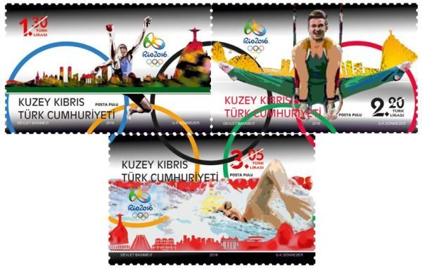 RIO Olympic Games 2016 stamps - Turkish Cyprus