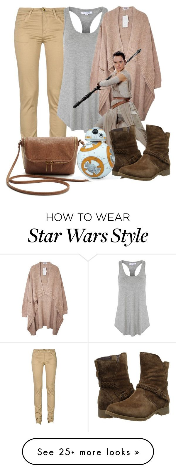 """Rey Star Wars"" by kaylenbluebird on Polyvore featuring moda, Monkee Genes, Glamorous, Teva, women's clothing, women, female, woman, misses y juniors"