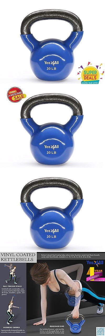 Kettlebells 179814: Yes4all Vinyl Kettlebell Cast Iron Exercise Training Coated 30 Lbs. - ²K3tcf BUY IT NOW ONLY: $38.99