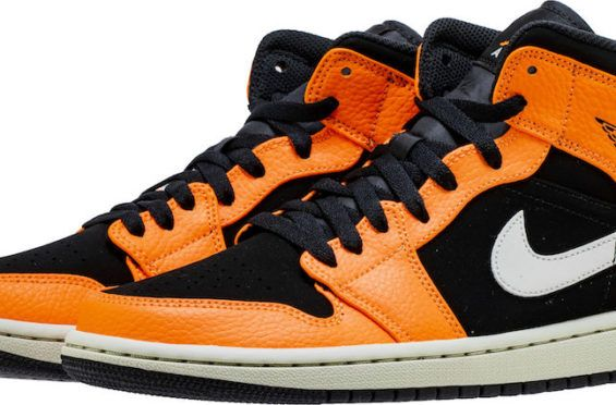 4d1262943cb This New Air Jordan 1 Mid In Orange And Black Is Perfect For Next Month  Halloween