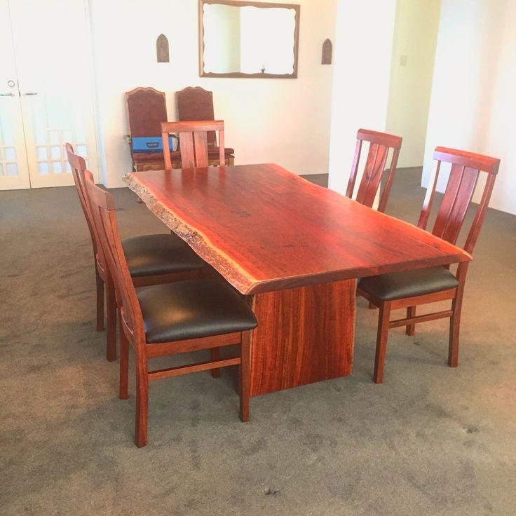 Jarrah dining table delivered to Santa Barbara USA