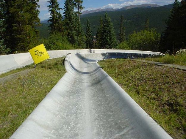 Alpine Slide in Lutsen, MN #MSPGetaway