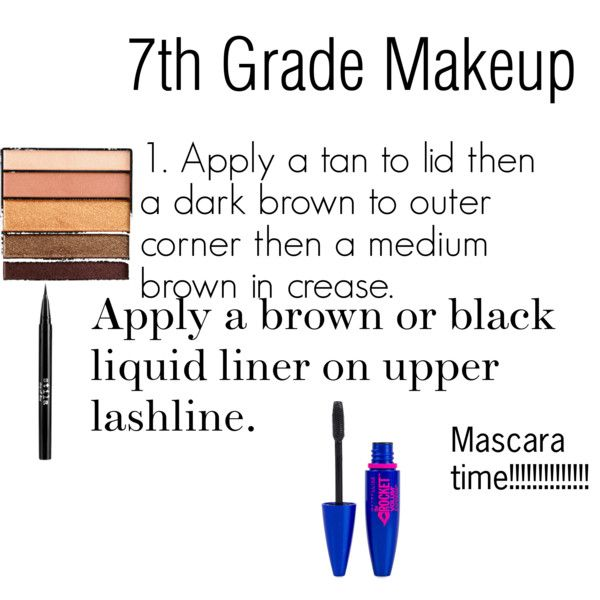 """7th grade makeup"" by ellenmcnair on Polyvore"