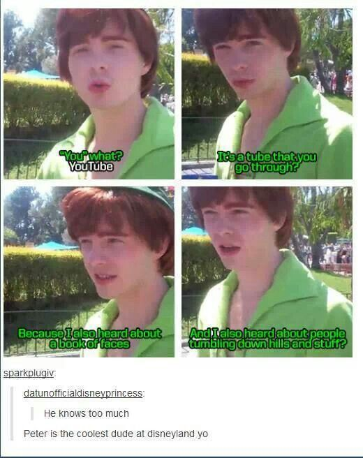 i love him. Peter Pan #Disneyland