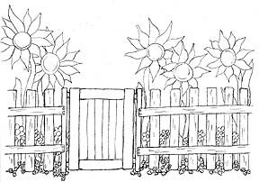 From Thoughts & Sketches: Gates & Gardens by LK Hunsaker. A color/write/sketch book with writing prompts. Copyrighted image. Print one for your own use only.