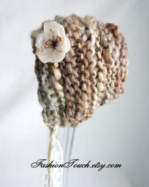 Stricken Baby Bonnet neugeborenes Baby Mütze von FashionTouch