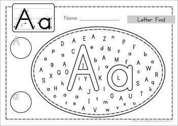 pay teachers alphabet letter find uppercase and lowercase letter find ...