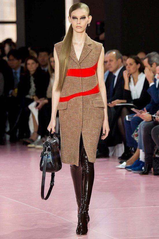 Свою новую коллекцию Christian Dior осень-зима 2015-2016 Раф Симонс посвятил свободным и уверенным в себе, чувственным и сексуальным женщинам. Его героиня повзрослела и «покинула райский сад», в ней появилась некая дикость и