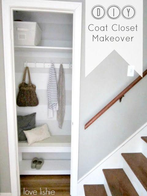Best 25+ Coat Closet Makeovers Ideas On Pinterest | Small Closet Makeovers,  Entry Closet And Small Coat Closet