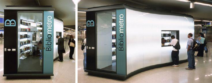 Préstamo gratuito de libros en el metro de Madrid - http://www.actualidadliteratura.com/prestamo-gratuito-de-libros-en-el-metro-de-madrid/