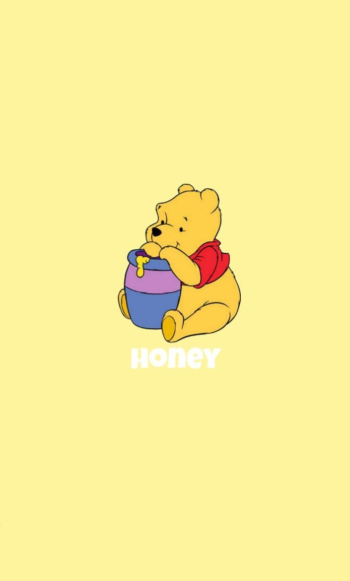 iPhone Wallpaper – winnie the pooh yellow honey wallpaper – Florence drct