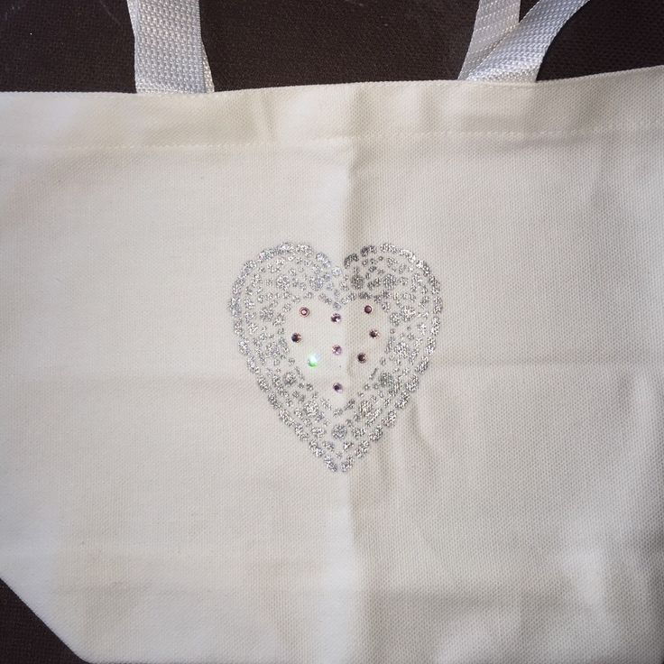 This bridal blingy heart bag is the perfect accessory for the big day! Load it up with some emergency toiletries for easy access.