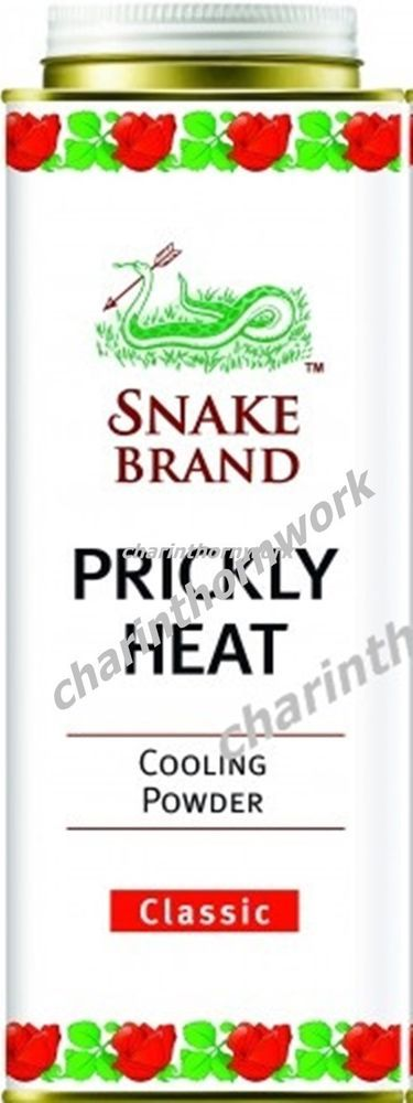 PRICKLY HEAT SNAKE BRAND BODY TALC COOLING POWDER SOOTHING CLASSIC FLAVOUR 300 g #SnakeBrand
