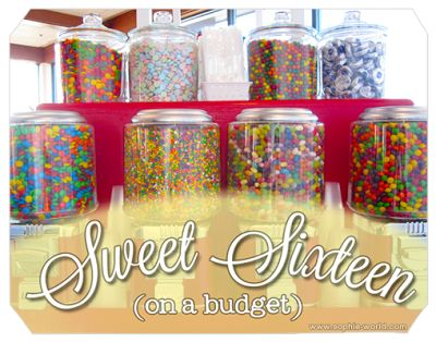 Sweet 16 party plans|sophie-world.com