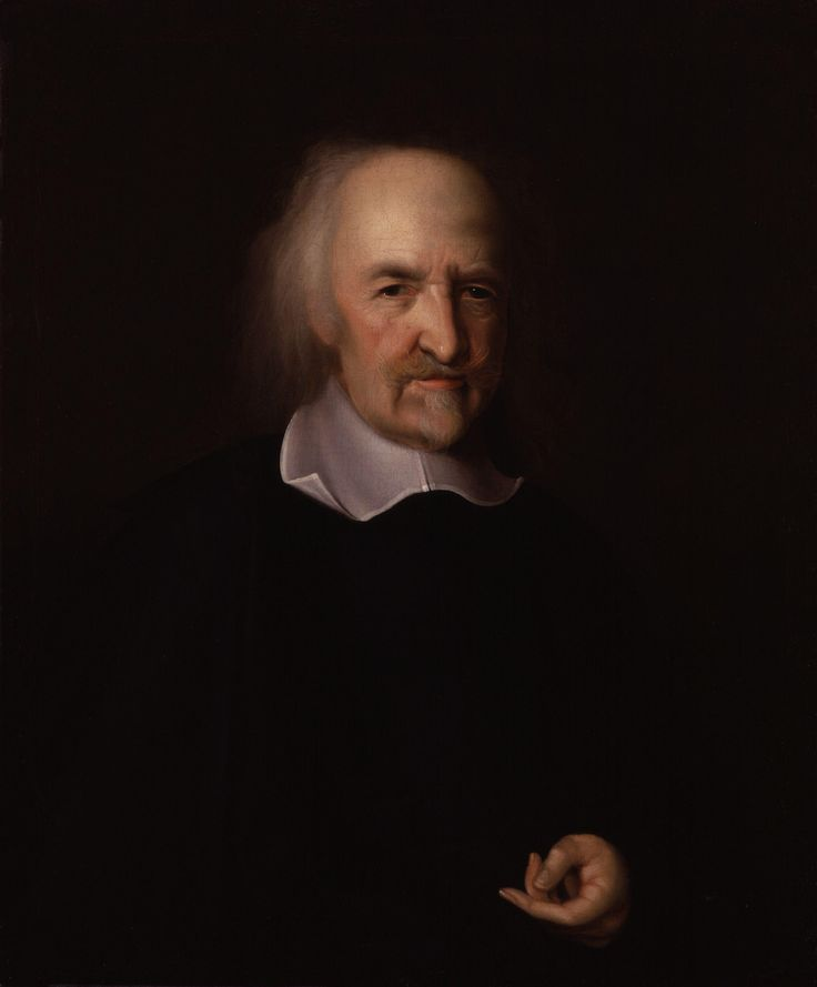 Thomas Hobbes door John Michael Wright.