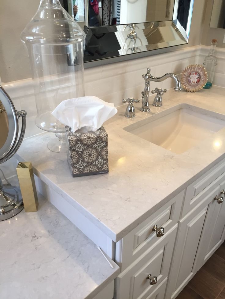 Snowy Ibiza Quartz In 2019 Bathroom Countertops