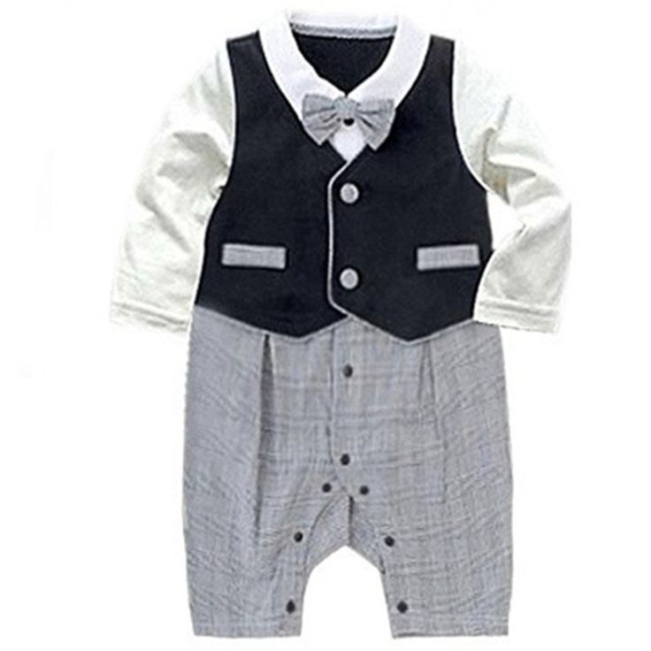 Wholesale 4pcs/lot Infant Toddler Baby Boy's Formal Wear Tuxedo Rompers,bow tie baby clothing boy infant wear free shippingNO.73