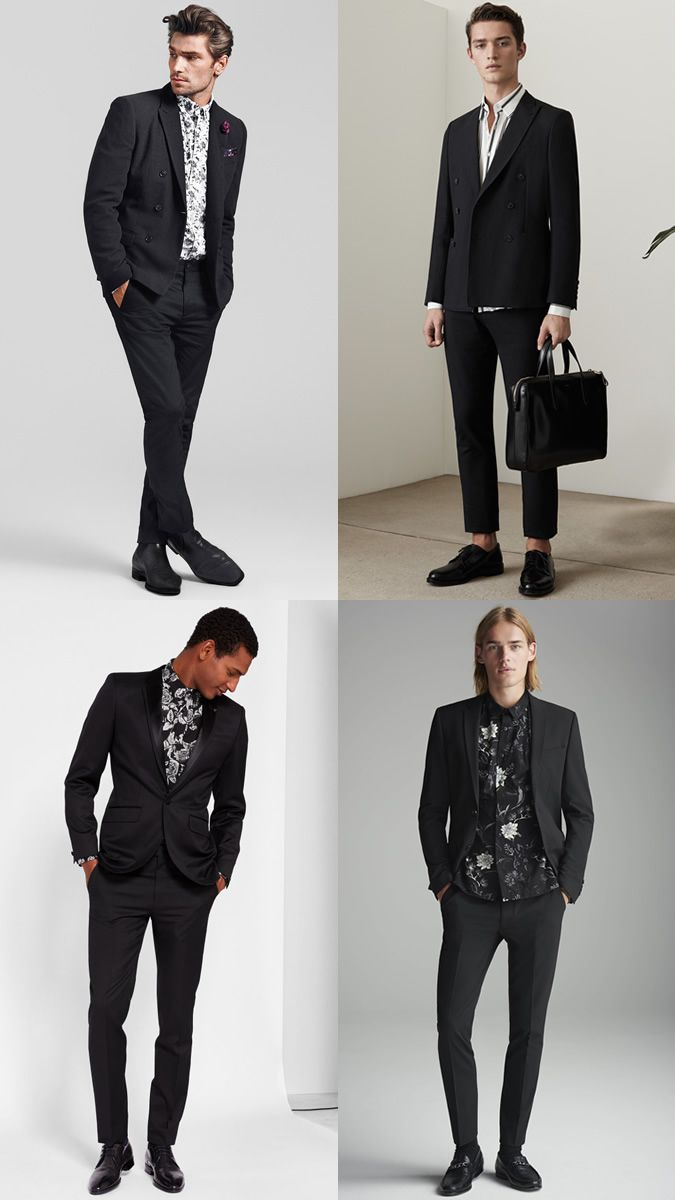 Shirts what to wear with black suits pictures