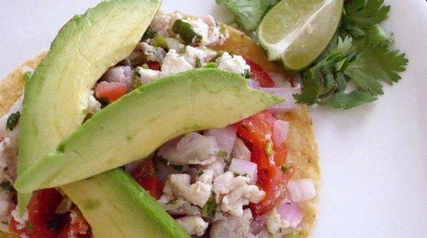 Tostadas de Ceviche: Food Recipes, Ceviche Tostadas, Fish Recipes, Ceviche Tacos, Eating Mexicans, Nom Nom, Healthy Recipes, Favorite Recipes, De Ceviche