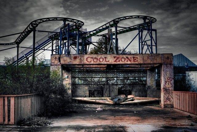 Le parc d'attraction abandonné « Six Flags » à la Nouvelle-Orléans dans l'État de Louisiane, États-Unis