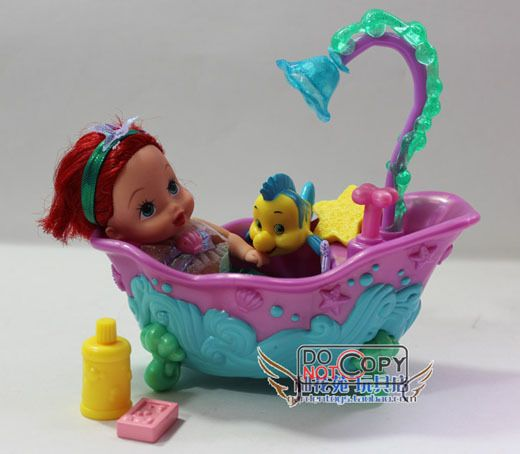 Genuine  fairy tale princess doll, Cinderella and seesaw/  The Little Mermaid,Ariel and magic bathtub, $26.90