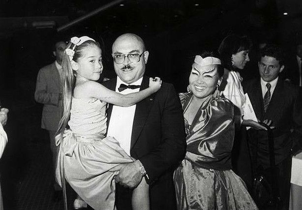 Raymond Nakachian with his wife Kimera and his daughter Mélodie.
