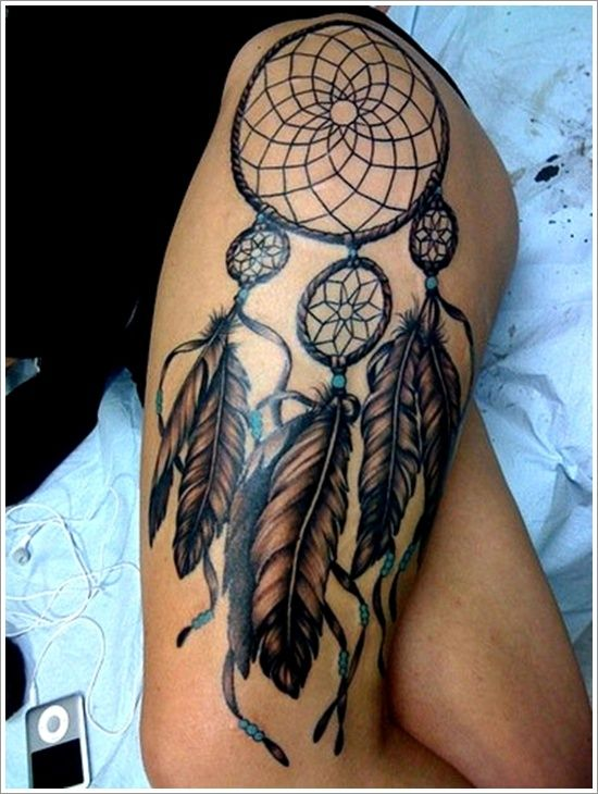 40 Native American Tattoo Designs for Men and Women LIKE THE BOTTOM. WOULD GET A PIC MAYBE HORSE IN STRETCHED HIDE IN THE MIDDLE