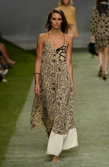 Asymmetrical Silk Maxi Dress