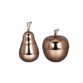 Copper plated alu fruit bowls from Broste