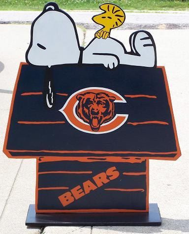 Chicago Bears Football Snoopy Peanuts Wood Decor by duranduran2946, $45.00