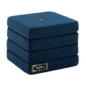 byKlipKlap 4 fold mørkblå m orange