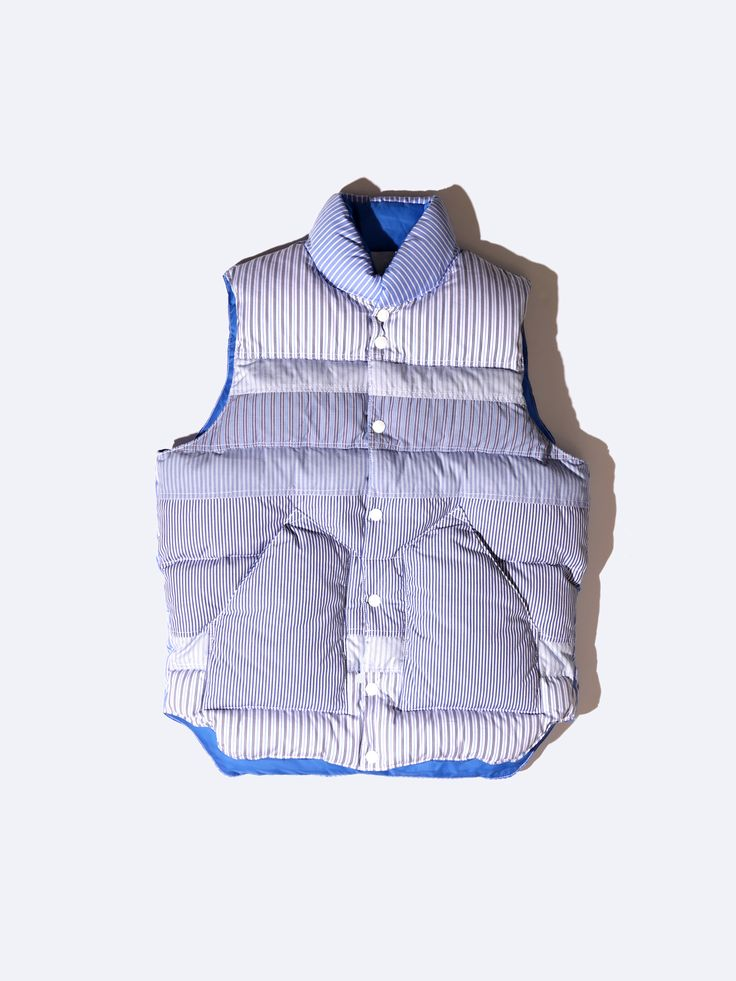 Quilted Stripe Down Vest