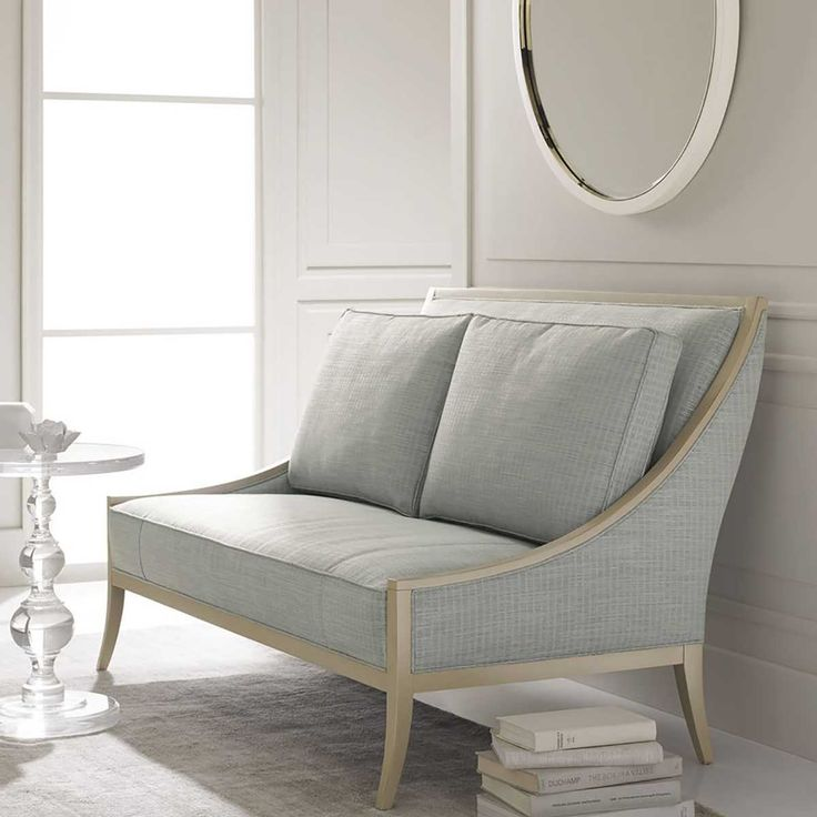 Caracole On The Line Settee | Benches & Settees | Living Room | Furniture | Candelabra, Inc.