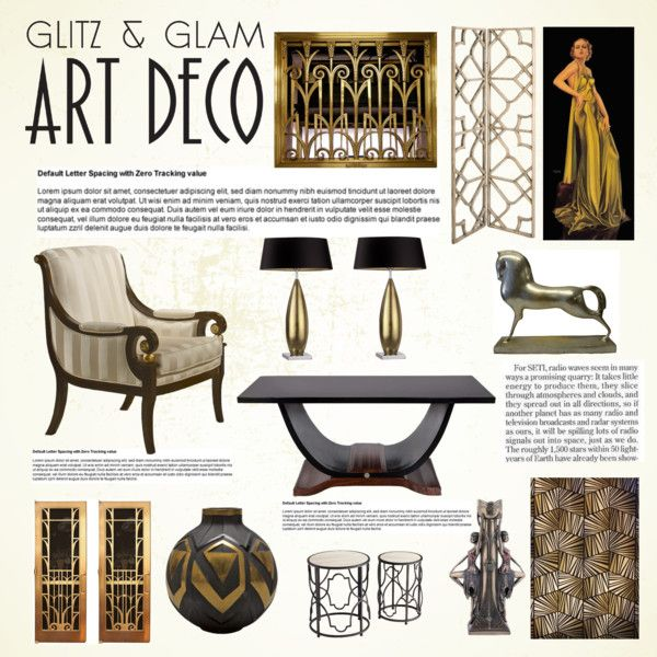 """""""Art Deco"""" by thysania on Polyvore"""